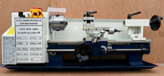 Pre Owned CJ18A-300 Mini-Lathe with 80mm 3jaw SC Chuck