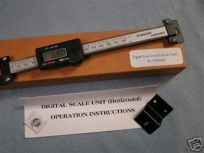 "12/"" HORIZONTAL DIGITAL SCALE UNIT LATHE OR MILL"