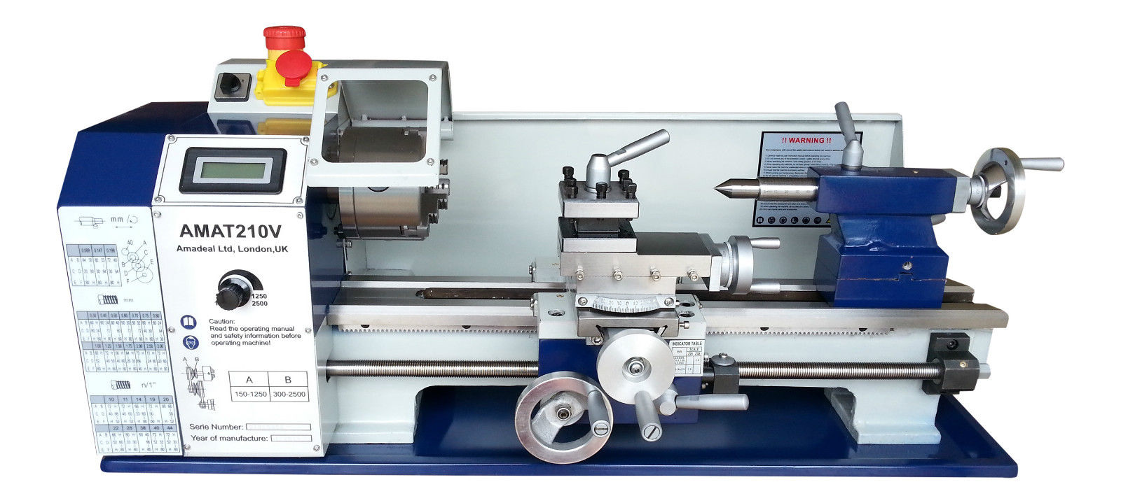 The Amadeal AMAT210V Bench Lathe 8x16 Package One