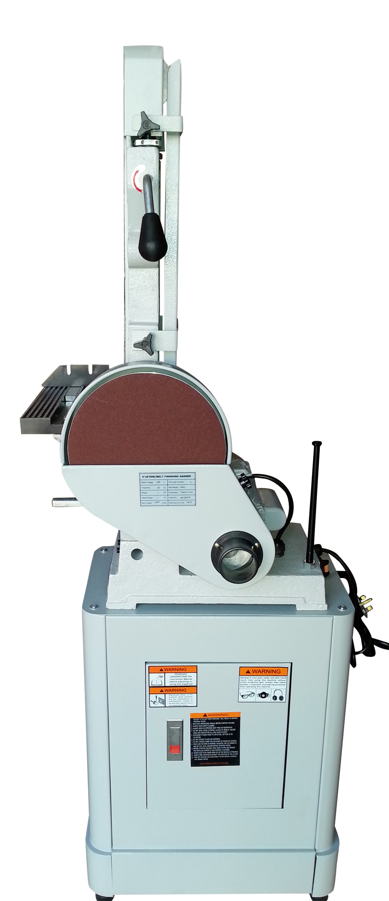 AMA690 Belt & Disc Sander 550W Motor - Cast Iron - Includes Stand - 6