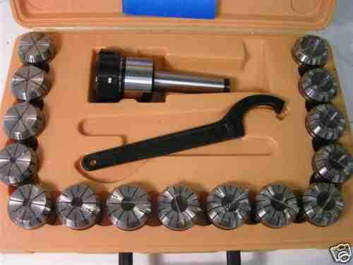 ER40 Collet Set - 15-Piece MT3 Imperial