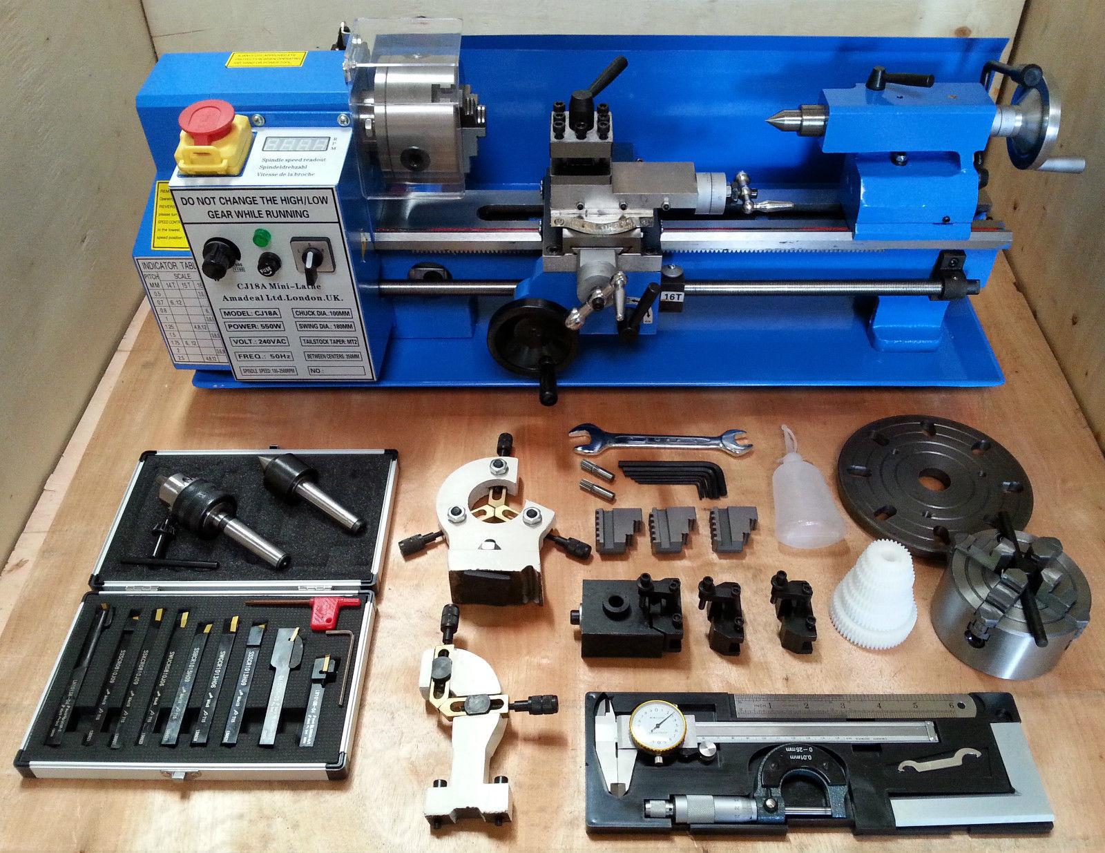 Cj18a Mini Lathe Blue Package 3 Brand New 7x14 Machine